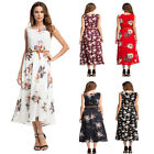 New Summer Bohemian Style Dress Floral Tea-Length Chiffon Cocktail Evening Party
