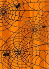 Halloween Spider Web Wallpaper A4 Sized Edible Wafer Paper / Icing Sheet