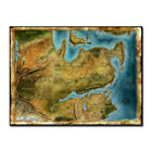 Thedas Map Dragon Age Games Art Silk Poster 13x18 24x32 inches Wall Decoration