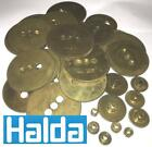 Halda calibration wheels, gears, cogs