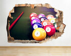 Wall Stickers Snooker Pool Balls Man Cave Smashed Decal 3D Art Vinyl Room D861 $29.0 USD on eBay