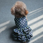 Small Dog Clothes Puppy Princess Tutu Dress Summer Soft Denim Dress Puppy Skirt