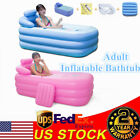 Adult Blowup Bathtub Spa PVC Warm Inflatable Bath Tub Folding Portable 160cm US