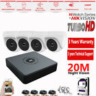 CCTV Full HD 1080P 2.4MP CAMERA SYSTEM OUTDOOR 4CH DVR HIKVISION P2P REMOTE VIEW