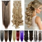 Mega Thick 100% New Full Head Clip In Hair Extensions Long Curly TOP Quality FO