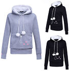 Unisex Lovely Hoodies Pouch Pet Dog Cat Hooded Pullover With Ears Sweatshirt XXF