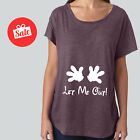 Let Me Out Disney Maternity Tank Slouchy Shirt Disneyworld Pregnancy Annoucement