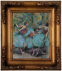 Degas Three Dancers Blue Tutus Red Bodices Wood Framed Canvas Print Repro 8x10