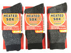 3 Pairs Men Heated SOX Thermal Winter Heavy Duty Crew Socks HEAT RATE 2.13 TOG