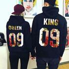 Couple Casual Hoodie The King And Queen Love Matching Couple Pullover Coat Tops
