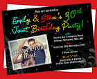 Personalised Joint Birthday Invitations Invites photo upload, Any age 18th, 21st