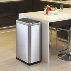 Slim Jim Tall Rectangular Motion Sensor Kitchen Waste Recycle Rubbish Dust Bin
