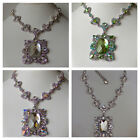 VINTAGE STYLE ART DECO NECKLACE/PENDENT JEWELRY WITH SWAROVSKI CRYSTAL