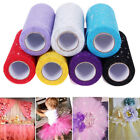 25 Yards 6'' Glitter Sequin Tulle Roll Spool Tutu Wrap Wedding Party Craft Decor