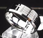 """Our Father which art in Heaven"" Prayer Polished Tungsten Carbide Band for Men"