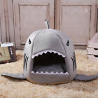 Hot Shark Mouth Teddy Pet Dog Cat Bed House Doggy Puppy Warm Kennel Cushion Pad