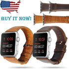 Retro Classics Genuine Leather Wrist Strap Band For iWatch Apple Watch  38/42mm