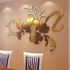 3d Mirror Flower Art Removable Wall Sticker Acrylic Mural Decal Home Decor #lca