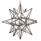 18 Inch Antique Mirror Glass Star Light Pendent