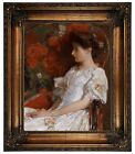 Hassam The Victorian Chair 1906 Framed Canvas Print Repro 16x20