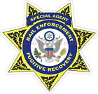 Bail Enforcement Fugitive Recovery Special Agent Reflective Police Decal Sticker
