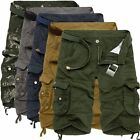 Fashion Casual Mens Summer Army Combat Pants Camo Workout Cargo Shorts Trousers