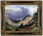 Bierstadt Storm in the Rocky Mountains Framed Canvas Print Repro 16x20