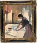 Degas Woman Ironing 1876 Framed Canvas Print Repro 16x20