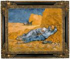 van Gogh Noon Rest from Work Framed Canvas Print Repro 16x20