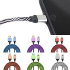 1M/3ft Aluminum Micro USB Sync Data Charging Nylon Braided Charger Cable Cord