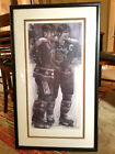 L@@K! Stephen Holland Wayne Gretsky Paul Coffey NHL Lithograh Framed Hockey Art