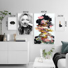 Внешний вид - Kate Moss Canvas Poster Nordic Style Girl Leaves Wall Art Prints Home Decoration