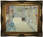 Manet The Rue Mosnier with Flags 1878 Framed Canvas Print Repro 20x24