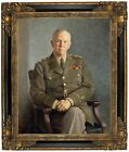 Stephens Portrait of George C. Marshall 1949 Framed Canvas Print Repro 16x20