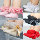 Toddler Baby Girl Lace Ruffle Frilly Ankle Socks Sweet Princess Soft Cotton Sock