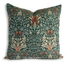 William Morris Snakeshead Green Fabric Vintage Designercushion Pillow Cover