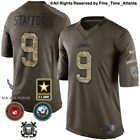 NEW Matthew Stafford Detroit Lions Olive Slaute to Service Military Camo Jersey