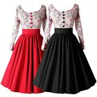New 50'S 60'S ROCKABILLY DRESS Vintage Style Swing Pinup Retro Housewife Party