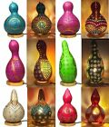 Turkish Moroccan Ottoman Handmade Natural Gourd Tiffany Mosaic Table Desk Lamp