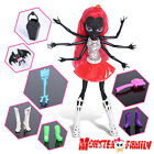 "10"" Monster High Frights Red Hair Girl Dolls Webarella Spider Figures Toys Gift"