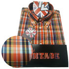 Warrior UK England Button Down Shirt REED Slim-Fit Skinhead Mod Retro