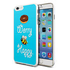 For Various Phones Design Hard Back Case Cover Skin - Donut Worry Bee Happy