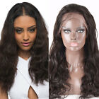 Italian Virgin Human Hair Wig New 10-22inch Loose Wave Full Front Lace Wig KX38