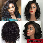 Charming Curly Bob Wig Synthetic Lace Front Wigs With Baby Black Hair Women Wig
