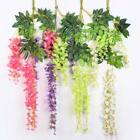 Winter Strings Silk Wisteria Flowers Wedding Arch Gazebo Decor Home Garland