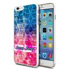 Personalised Premium Hard Case Cover for Mobiles - Blue Pink Modern 103