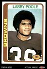 1978 Topps #184 Larry Poole Browns-FB NM $1.2 USD on eBay