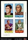 1969 Topps 4-in-1 Football Stamps Charlie Durkee / Clifton McNeil / Fran Tark VG $3.5 USD on eBay