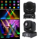 LIXADA 25W 9/11 CHANNEL MOVING HEAD 8 Color LED STAGE LIGHT LAMP WITH SHAPES O0H