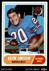 1968 Topps #19 Keith Lincoln -  Bills EX $1.6 USD